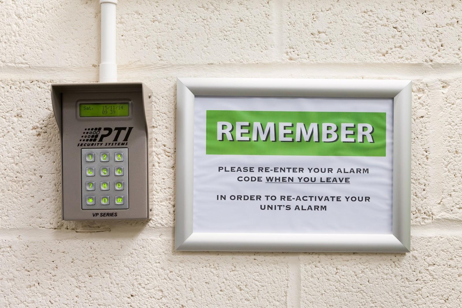 business storage unit code pad